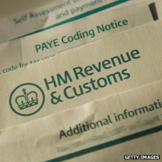 HM Revenue form