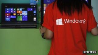 Windows 8 salesperson