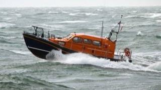An RNLI lifeboat