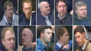 10 football fans suspected of being involved in