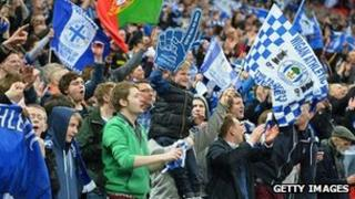 Wigan Athletic fans