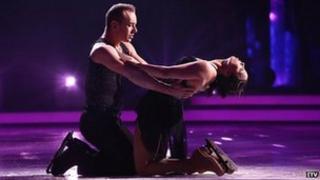 Beth Tweddle with partner Dan Whiston