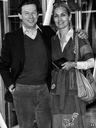 Patrick Garland and Alexandra Bastedo