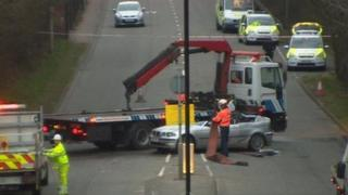 The scene of the crash on Thomas Lewis Way