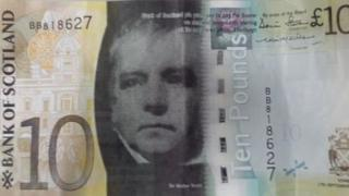 Sir Walter Scott appears on Bank of Scotland notes, thanks to his own campaign