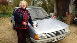 Penny Clive with car