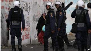 Security police in the village of Diraz