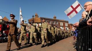 Troops parade through Emsworth
