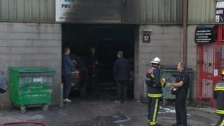 Scene of Miller Court fire