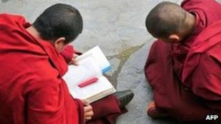 File photo: Tibetans monks in Sichuan province