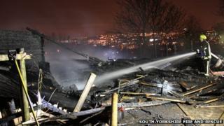 Firefighter at Ski Village, Sheffield