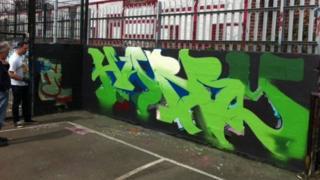 Harry graffiti in Nottingham