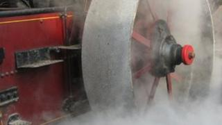 A steam engine at Trevithick Day