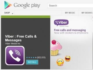 Screengrab of Viber on Google Play