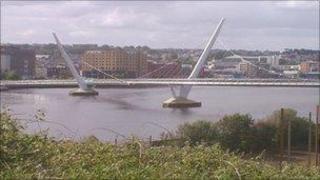 The Peace Bridge in Londonderry