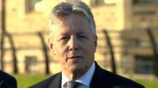 Peter Robinson made the comments at the party's spring conference