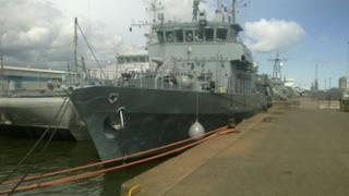 The ships have just been at sea for two weeks training