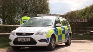 Police at Flintham