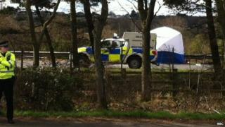 Scene of where the body was found