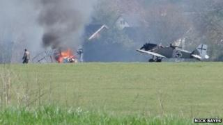 Aircraft down on Middle Wallop airfield