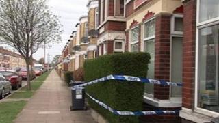 Police cordon at the crime scene