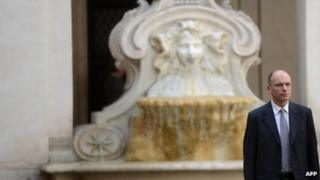 Newly appointed Italian Prime Minister Enrico Letta arrives in Rome's Chigi palace