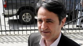 Lutfi Dervishi arrives at the court in Pristina (29 April 2013)