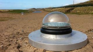 Glass dome sun pipe