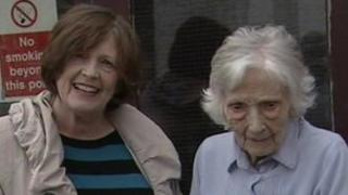 Josie McCann and her mother Letty, 99
