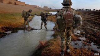 40 Commando, Dec 2012, on patrol in Nahr-e-Saraj district