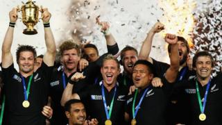 New Zealand lift the World Cup in 2011