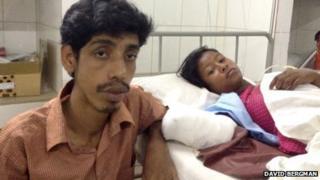 Didar Hossain (L) and Aanna Akhter (R) at Enam Medical College Hospital, Bangladesh