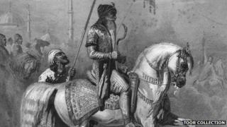 The Lion of Punjab, Maharaja Ranjit Singh, riding a stallion