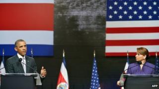 President Obama and Laura Chinchilla