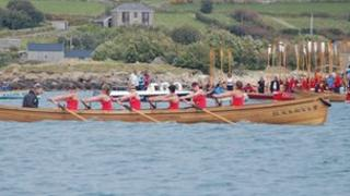 The Falmouth ladies team in the final