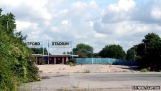 Derelict Catford Stadium