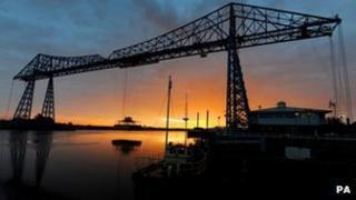 Transporter bridge in Middlesbrough