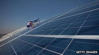 Solar panels in Tianjin