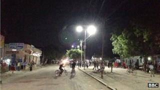 streetlights in Mogadishu