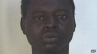 Undated photo issued by Italian police of a man identified as Kabobo Mada, 21, from Ghana