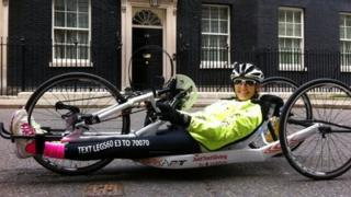 Claire Lomas at 10 Downing Street