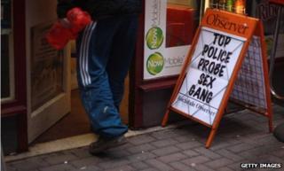 Newspaper billboard in Rochdale about a previous case in 2012