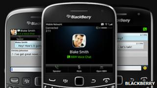 BBM on Blackberry handsets