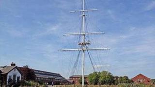 HMS Ganges mast