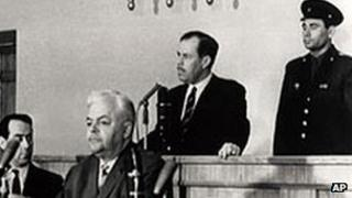 Greville Wynne in Moscow courtroom. Photo: May 1963