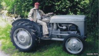 Bob Dickman on his tractor