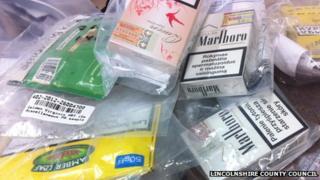 Seized fake tobacco