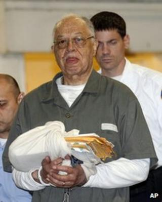 Dr Kermit Gosnell is escorted to a waiting police van upon leaving the Criminal Justice Center in Philadelphia, on 13 May 2013