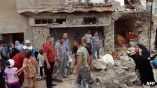 Site of bomb attack in Kirkuk, 15 May