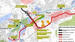 Plan of link road development
